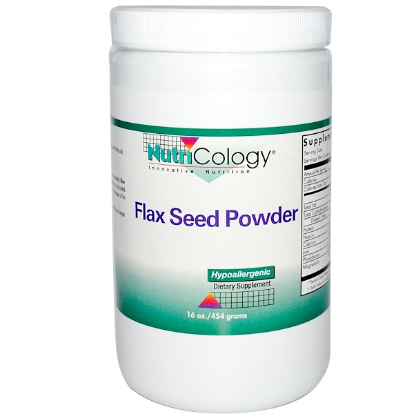 Nutricology, Flax Seed Powder, 16 oz. (454 g) (Discontinued Item)