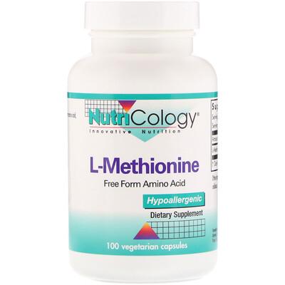 Купить Nutricology L-метионин, 100 растительных капсул