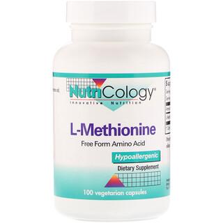 Nutricology, L-метионин, 100 растительных капсул