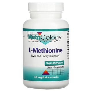 Nutricology, L-Methionine, 100 Vegetarian Capsules