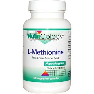 Nutricology, L Méthionine, 100 capsules végétales