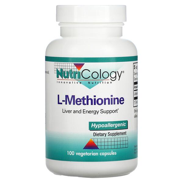 Nutricology, L-Methionin, 100 vegetarische Kapseln