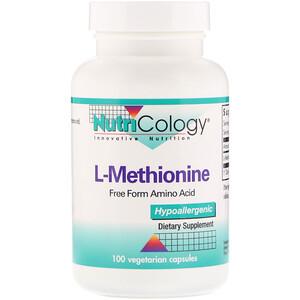 Нутриколоджи, L-Methionine, 100 Vegetarian Capsules отзывы покупателей