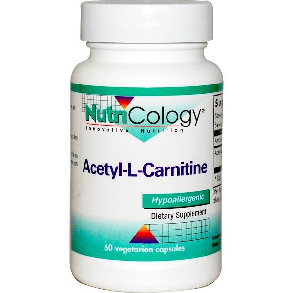 Nutricology, 乙酰基-L-肉鹼,60素食膠囊