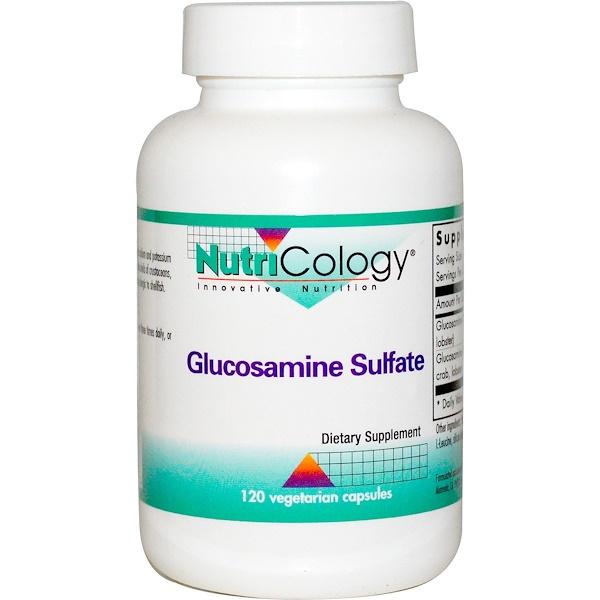 Nutricology, Glucosamine Sulfate, 120 Veggie Caps (Discontinued Item)
