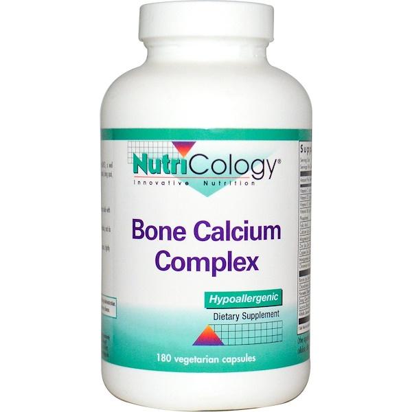 Nutricology, Bone Calcium Complex, 180 Veggie Caps (Discontinued Item)