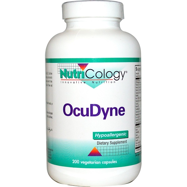 Nutricology, OcuDyne, 200 Veggie Caps (Discontinued Item)