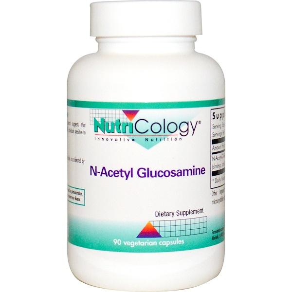 Nutricology, N-ацетил глюкозамин, 90 растительных капсул
