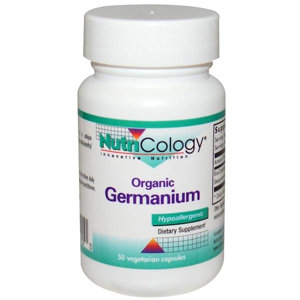 Nutricology, Organic Supplement, 50 Veggie Caps (Discontinued Item)