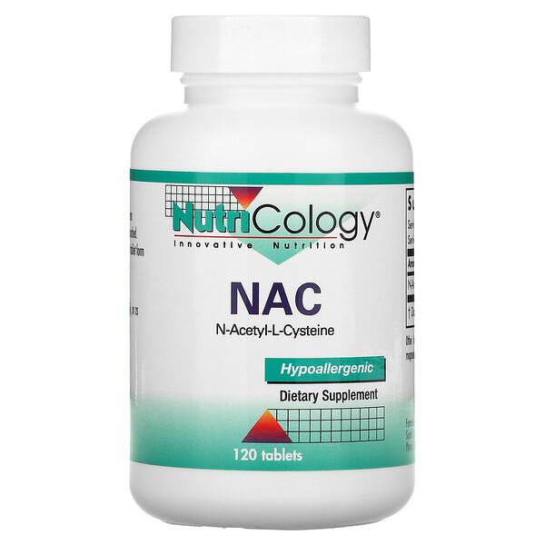 Nutricology, NAC N-Acetyl-L-Cysteine, 120 Tablets