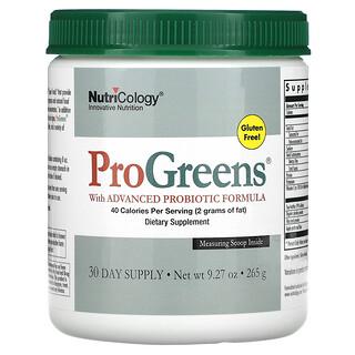 Nutricology, ProGreens with Advanced Probiotic Formula, 9.27 oz (265 g)