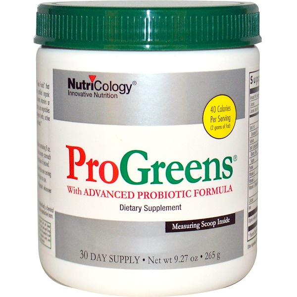 Nutricology, ProGreens, with Advanced Probiotic Formula, 9.27 oz (265 g)
