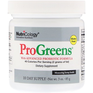 Nutricology, ProGreens, With Advanced Probiotic Formula, 3 oz (85 g)
