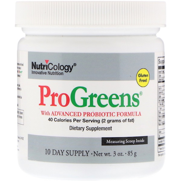Nutricology, ProGreens, with Advanced Probiotic Formula, 10 Day Supply, 3 oz (85 g)