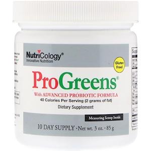 Нутриколоджи, ProGreens with Advanced Probiotic Formula, 3 oz (85 g) отзывы покупателей