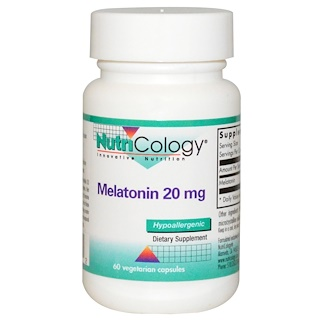 Nutricology, Melatonin, 20 mg, 60 Veggie Caps