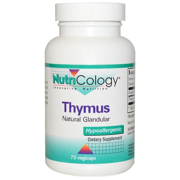 Nutricology, Thymus, 75 Veggie Caps