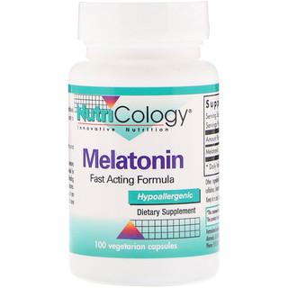Nutricology, Melatonin, Fast Acting Formula, 100 Vegetarian Capsules