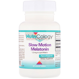 Nutricology, Slow Motion Melatonin, 60 Scored Tablets