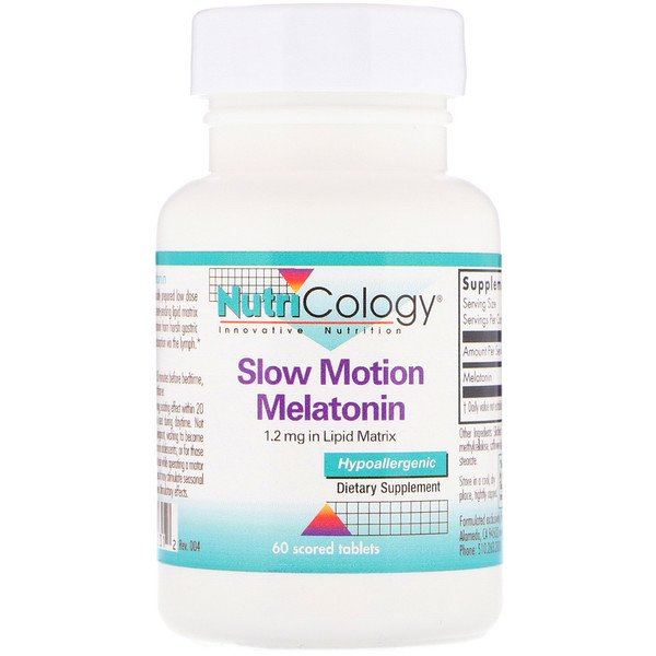 Nutricology, Slow Motion Melatonin، عدد 60 قرص فعال (Discontinued Item)