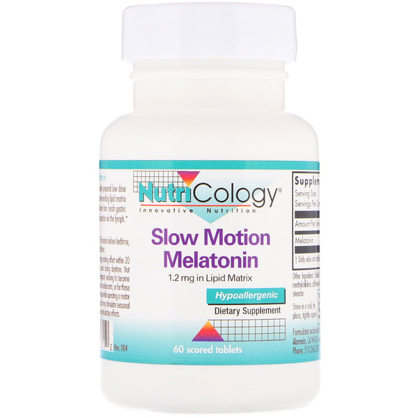 Nutricology, Slow Motion Melatonin, 60 Scored Tablets (Discontinued Item)