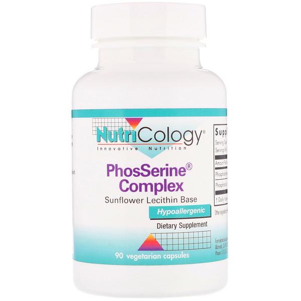 Nutricology, PhosSerine Complex,90粒素食膠囊