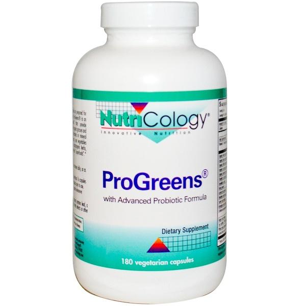 Nutricology, ProGreens 素食膠囊,180粒