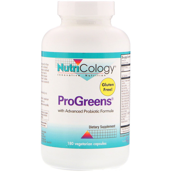 Nutricology, ProGreens, 180 Vegetarian Capsules (Discontinued Item)