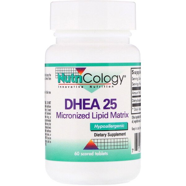 DHEA 25, Micronized Lipid Matrix, 60 Scored Tablets
