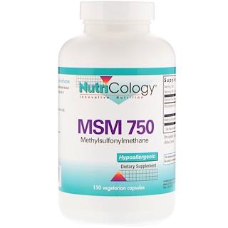 Nutricology, MSM 750, 150 Vegetarian Capsules