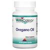 Nutricology, Oregano Oil, 90 Fish Gelatin Capsules