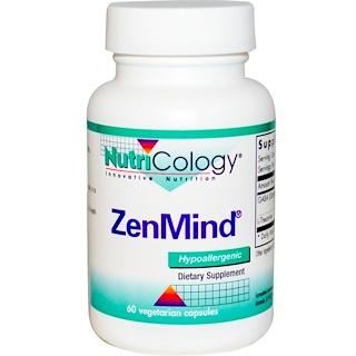 Nutricology, ZenMind, 60 Veggie Caps