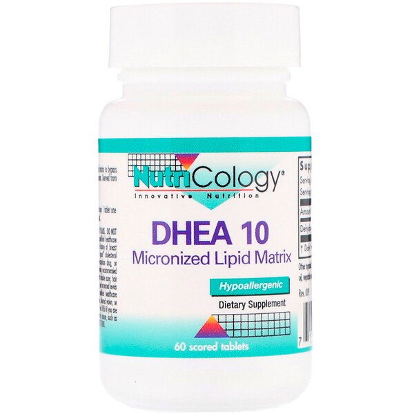 DHEA 10, Micronized Lipid Matrix, 60 Scored Tablets