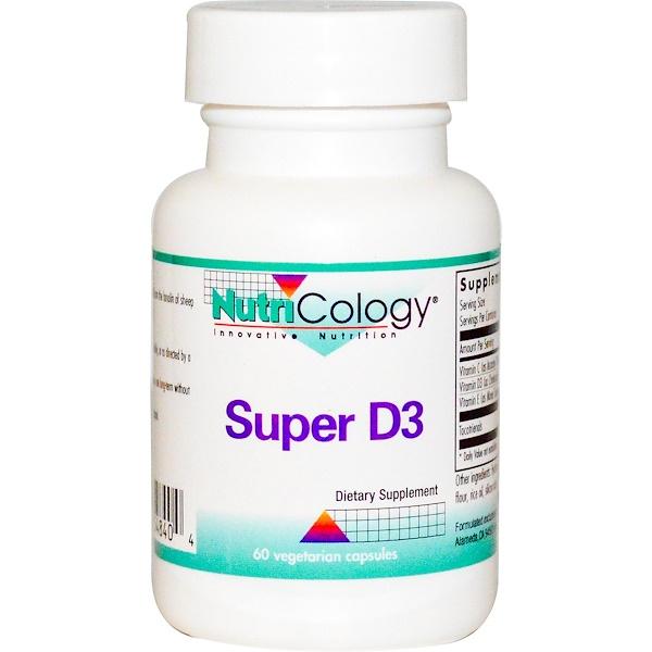 Nutricology, Super D3, 60 Veggie Caps (Discontinued Item)