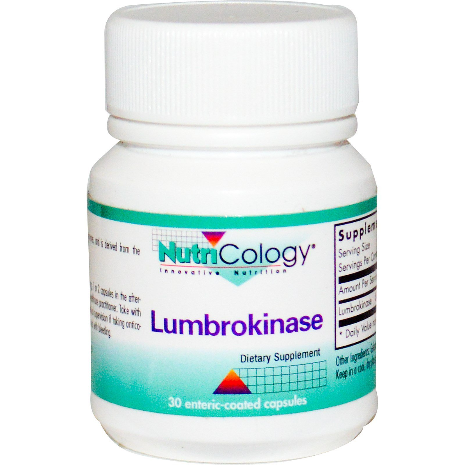 Nutricology, Lumbrokinase, 30 Enteric-Coated Capsules (Discontinued Item)