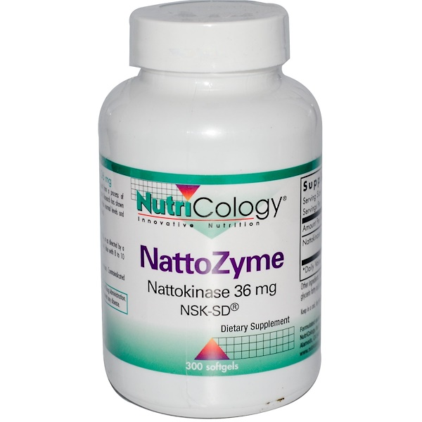 Nutricology, Nattozyme, 300 Softgels (Discontinued Item)