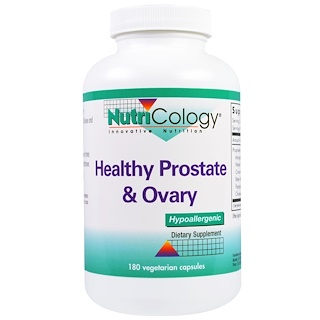 Nutricology, Healthy Prostate & Ovary, 180 Veggie Caps