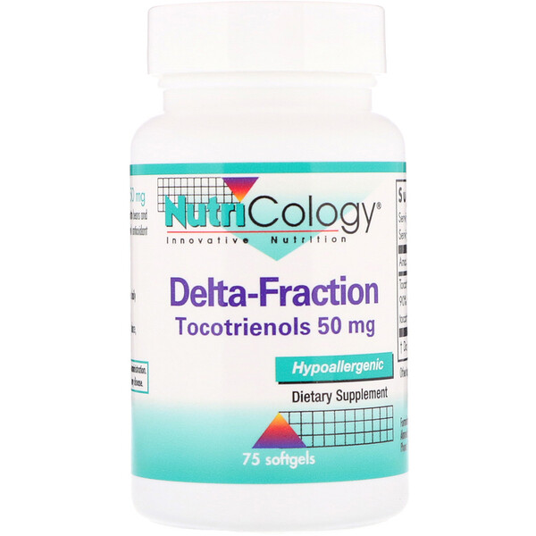 Delta-Fraction, Tocotrienols, 50 mg, 75 Softgels