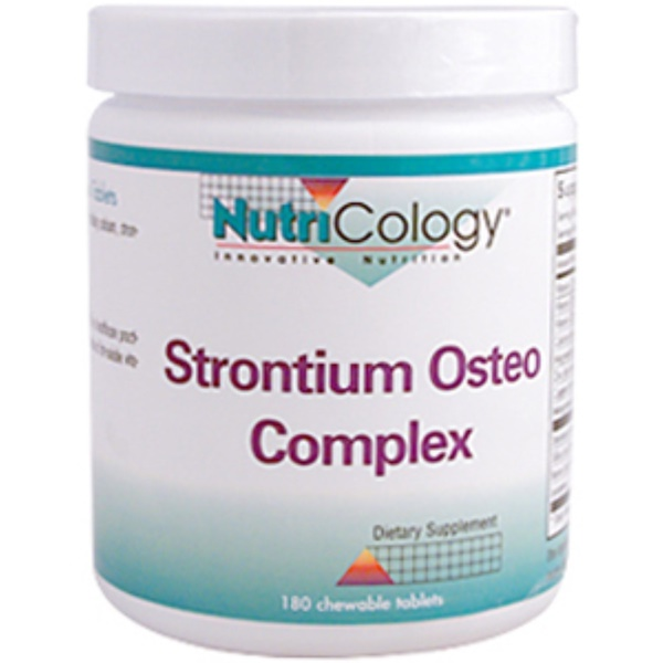 Nutricology, Strontium Osteo Complex, 180 Chewable Tablets (Discontinued Item)