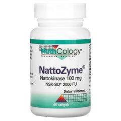 Nutricology, NattoZyme,100 毫克,60 粒軟膠囊