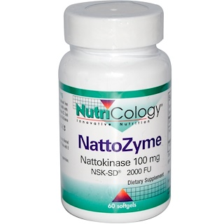 Nutricology, NattoZyme, Nattokinase, 100 mg, 60 Softgels