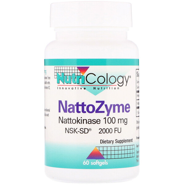 Nutricology, NattoZyme, 100 mg, 60 Softgels