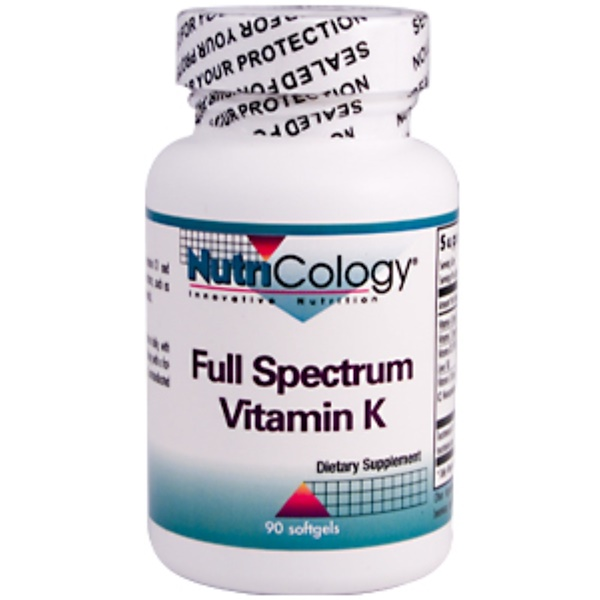 Nutricology, Full Spectrum Vitamin K, 90 Softgels (Discontinued Item)