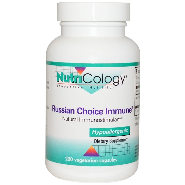 Nutricology, Russian Choice Immune, 200 Veggie Caps (Discontinued Item)