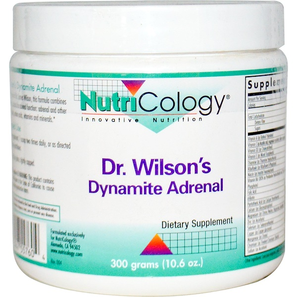 Nutricology, Dr. Wilson's Dynamite Adrenal, 10.6 oz (300 g) (Discontinued Item)