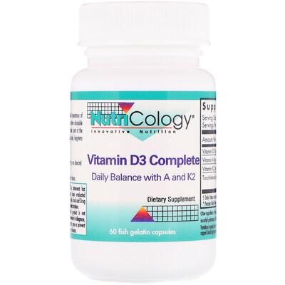 Nutricology комплекс с витамином D3, 60 капсул из рыбьего желатина