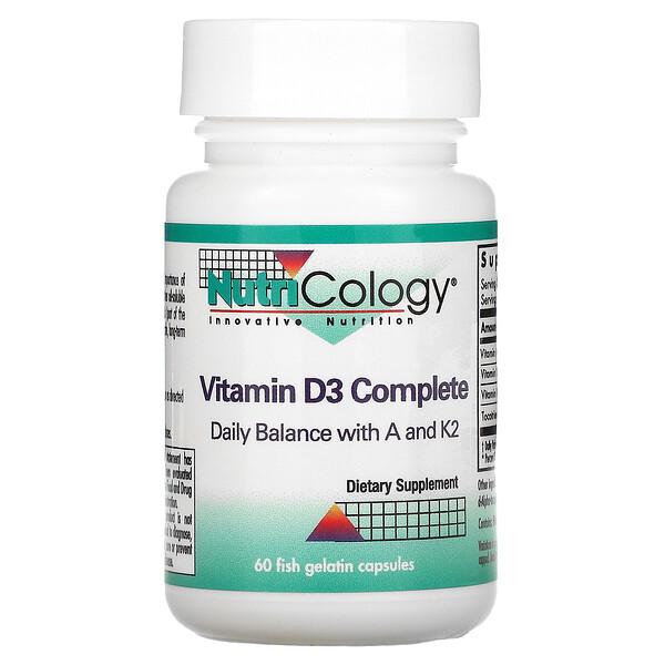 Nutricology, فيتامين D3 الكامل، 60 كبسولة جيلاتينية سمكية