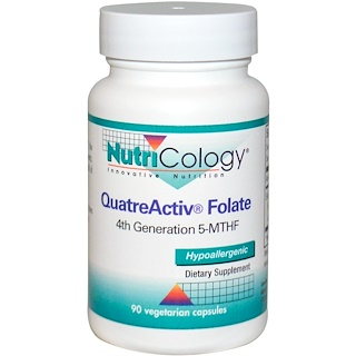Nutricology, QuatreActiv Folate, 90 Veggie Caps