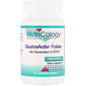 Нутриколоджи, QuatreActiv Folate, 90 Vegetarian Capsules отзывы