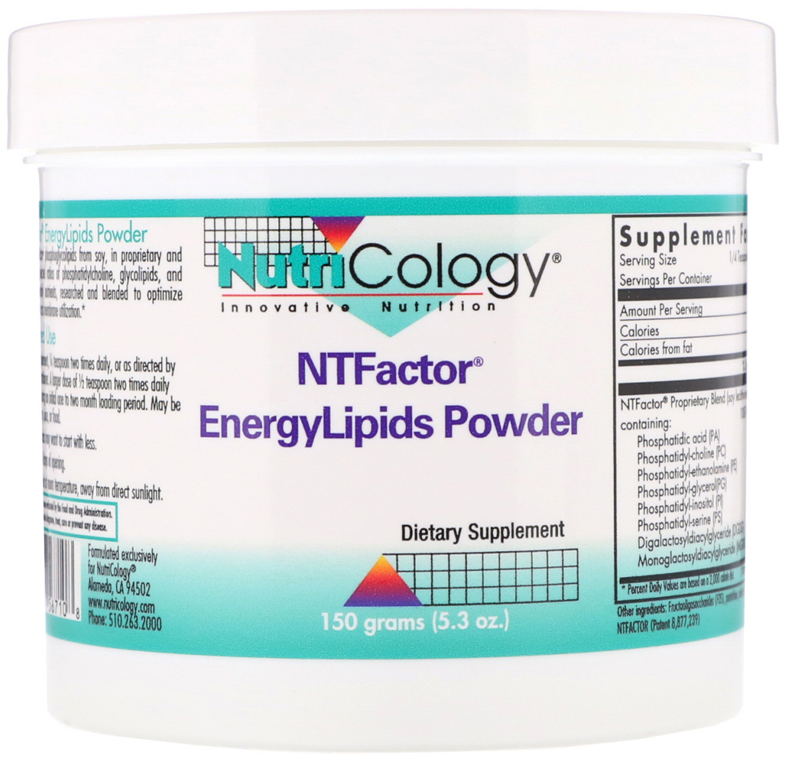 Nutricology, NTFactor, EnergyLipids Powder, 5.3 oz (150 g)